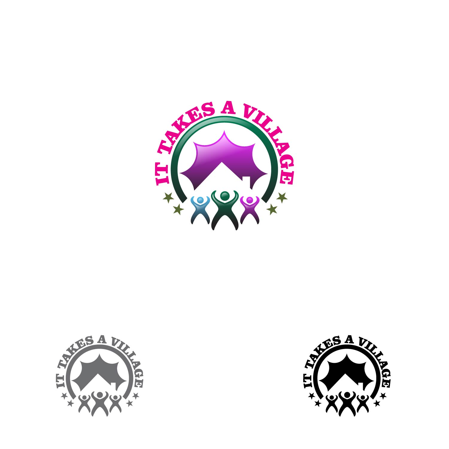 Logo Design by lagalag - Entry No. 37 in the Logo Design Contest Captivating Logo Design for It Takes A Village.