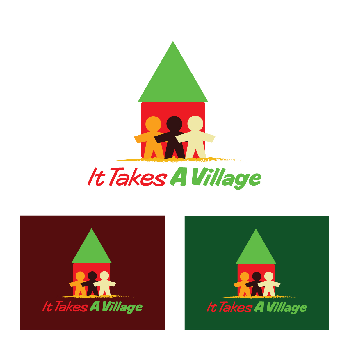 Logo Design by danelav - Entry No. 38 in the Logo Design Contest Captivating Logo Design for It Takes A Village.