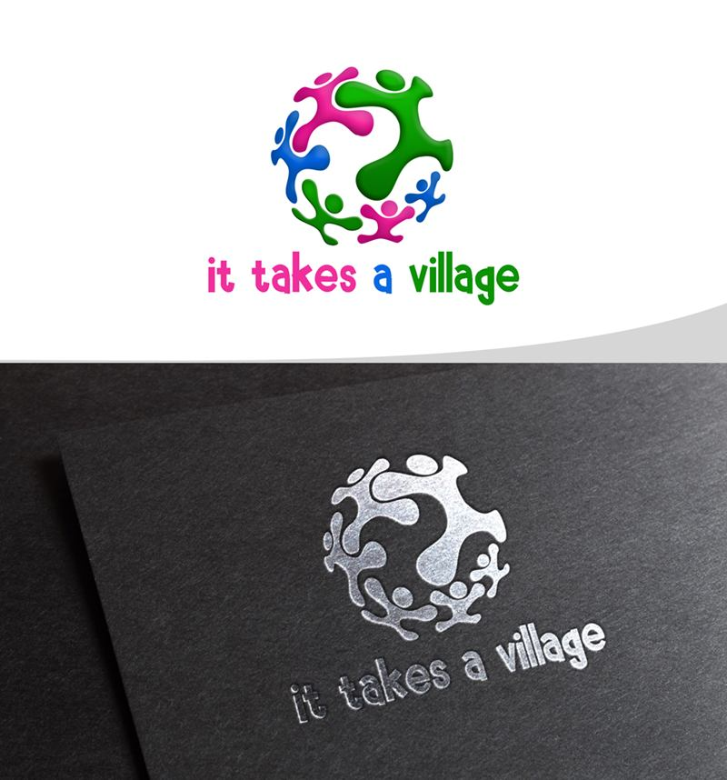 Logo Design by Respati Himawan - Entry No. 39 in the Logo Design Contest Captivating Logo Design for It Takes A Village.