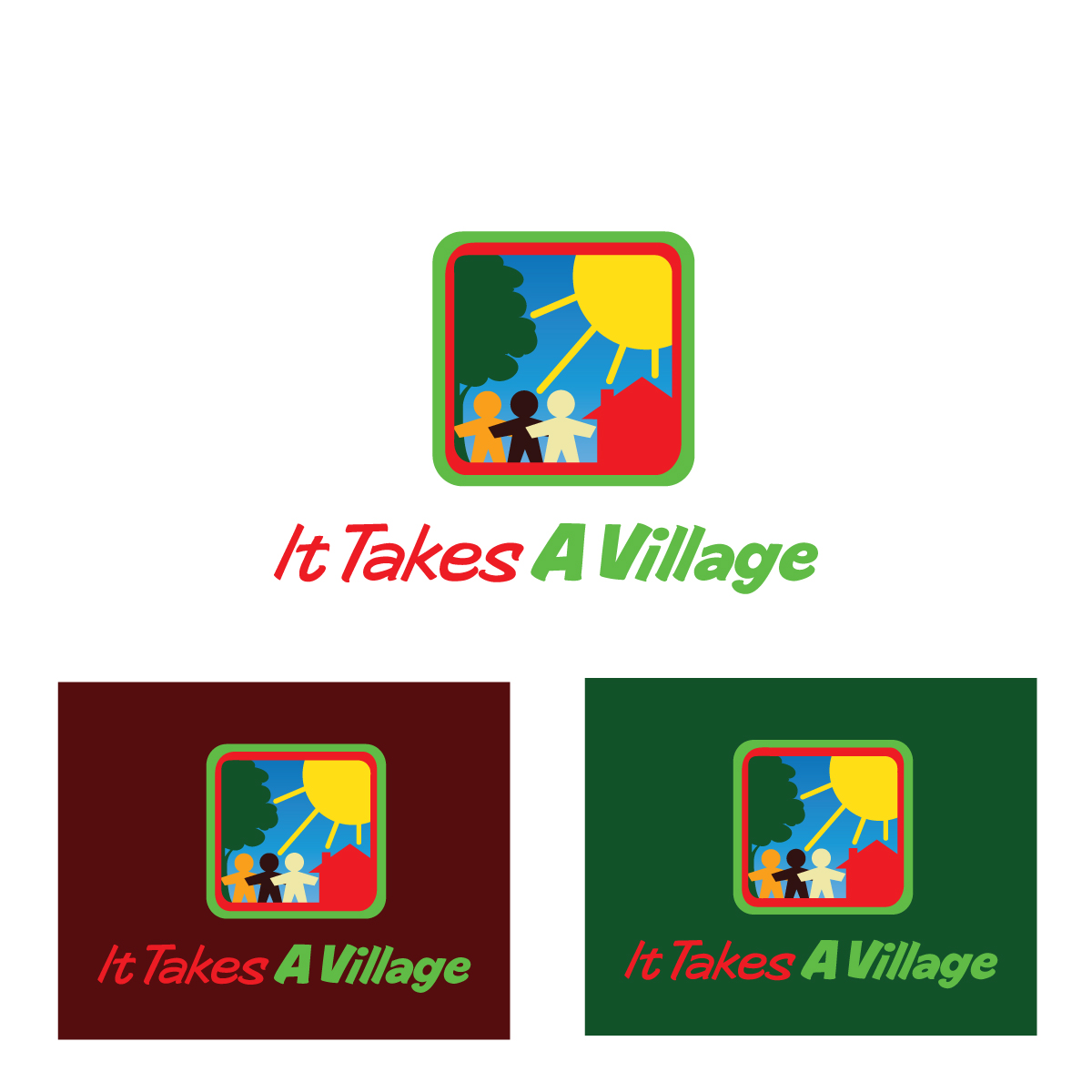 Logo Design by danelav - Entry No. 43 in the Logo Design Contest Captivating Logo Design for It Takes A Village.