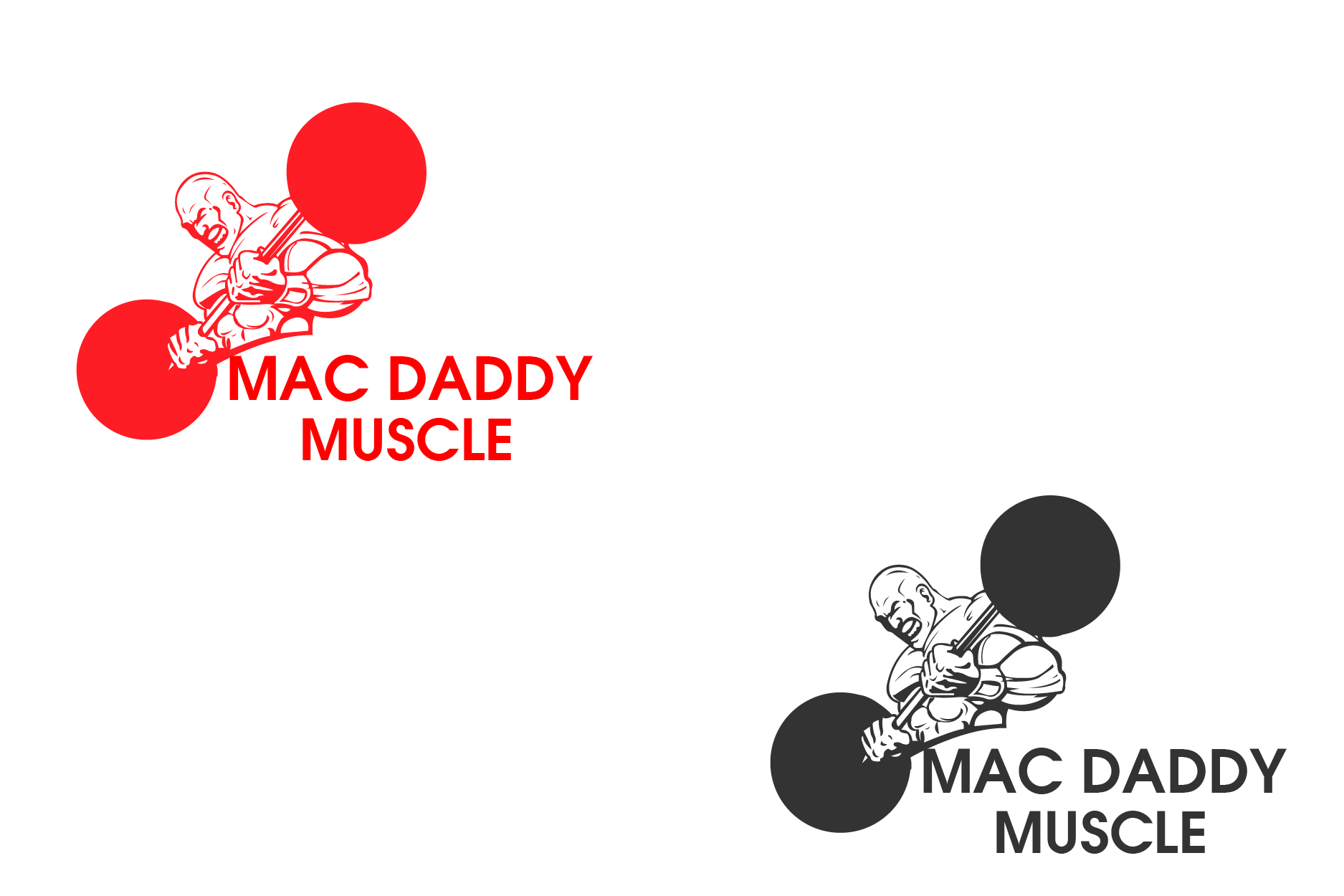 Logo Design by brands_in - Entry No. 55 in the Logo Design Contest New Logo Design for Mac Daddy Muscle.