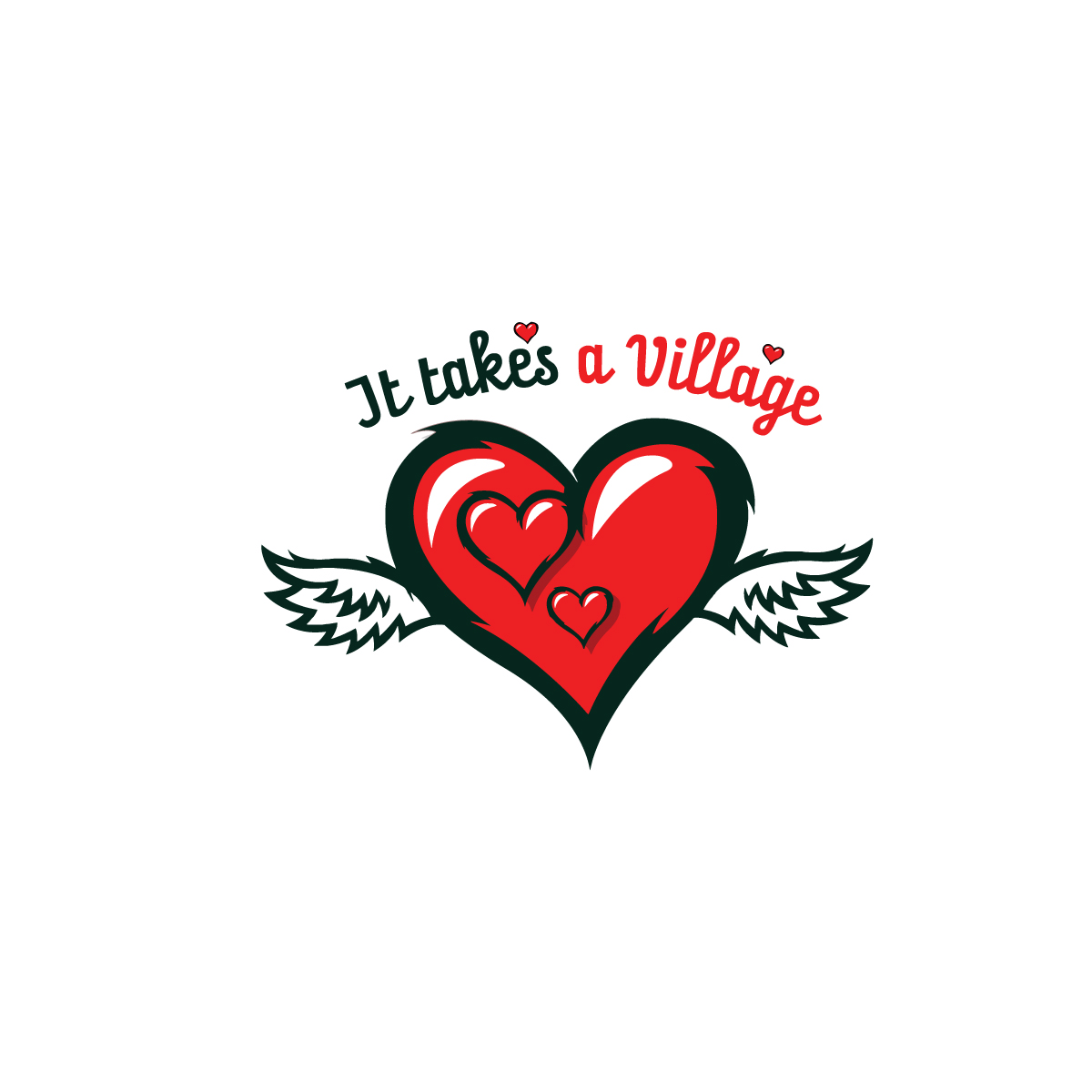 Logo Design by danelav - Entry No. 50 in the Logo Design Contest Captivating Logo Design for It Takes A Village.