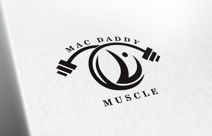 Logo Design by Adnan Younus - Entry No. 61 in the Logo Design Contest New Logo Design for Mac Daddy Muscle.