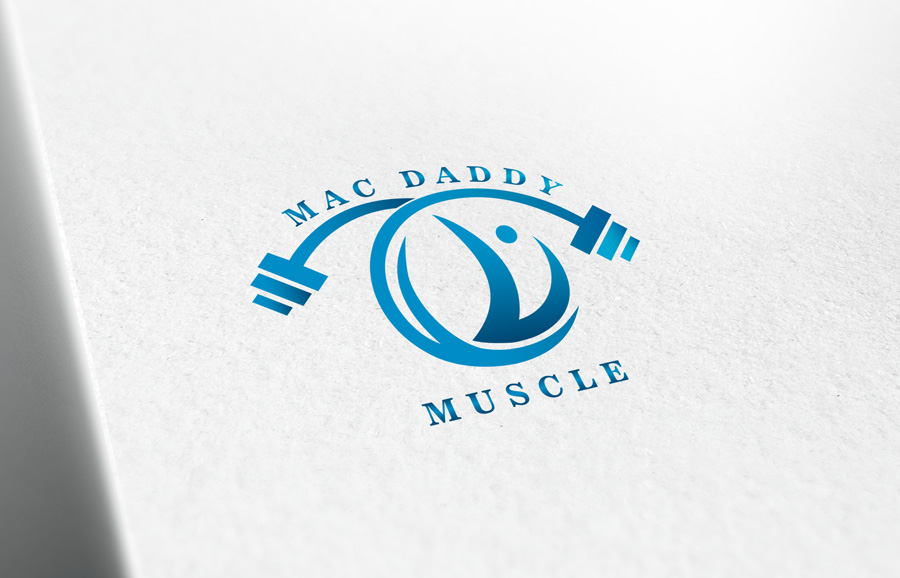 Logo Design by Adnan Younus - Entry No. 62 in the Logo Design Contest New Logo Design for Mac Daddy Muscle.