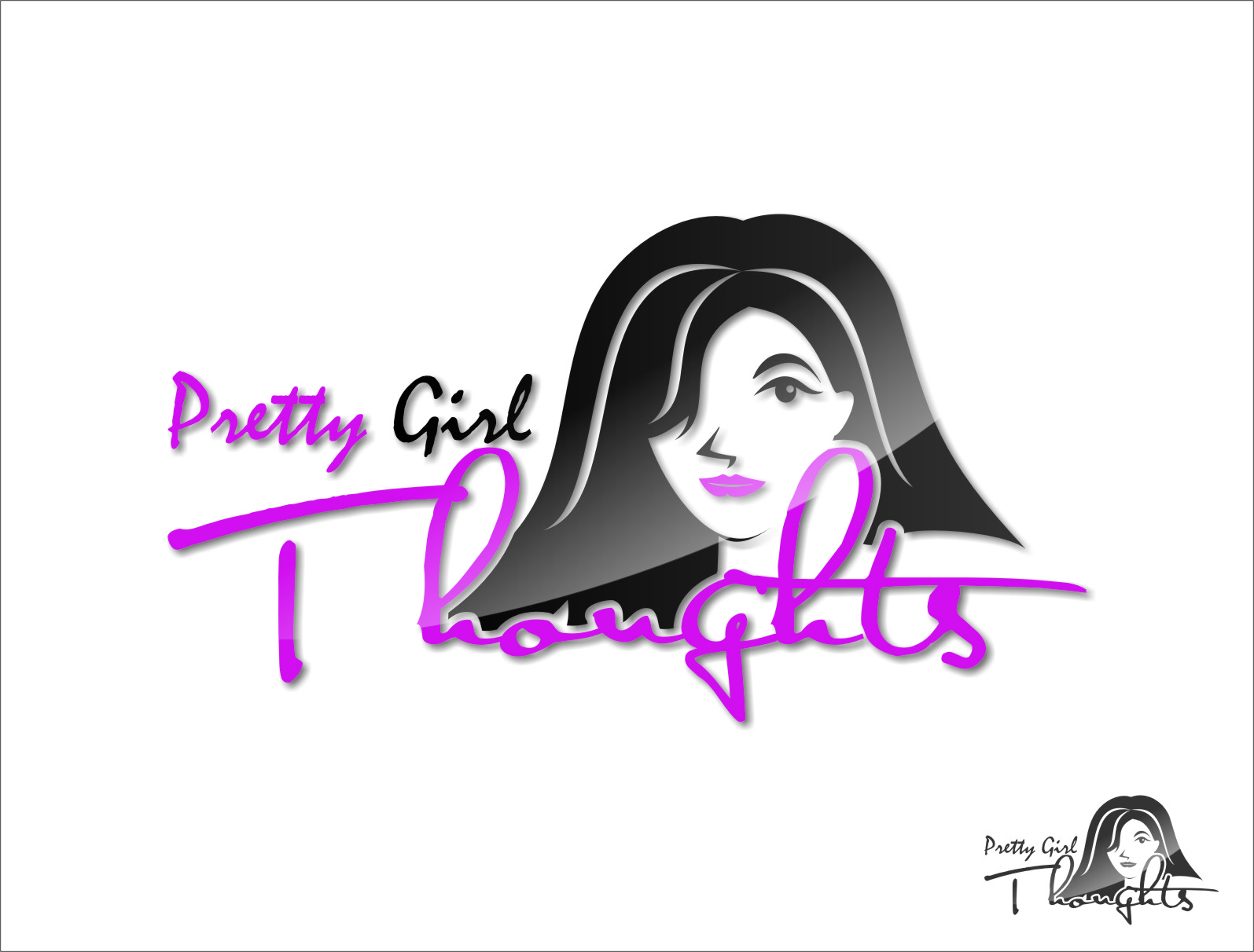 Logo Design by Ngepet_art - Entry No. 78 in the Logo Design Contest Inspiring Logo Design for Pretty Girl Thoughts.