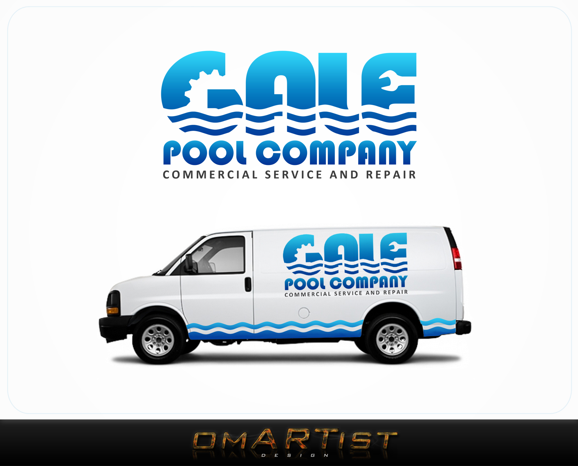 Logo Design by omARTist - Entry No. 43 in the Logo Design Contest Imaginative Logo Design for Gale Pool Company.