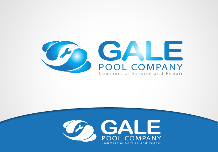 Logo Design by Jan Chua - Entry No. 44 in the Logo Design Contest Imaginative Logo Design for Gale Pool Company.