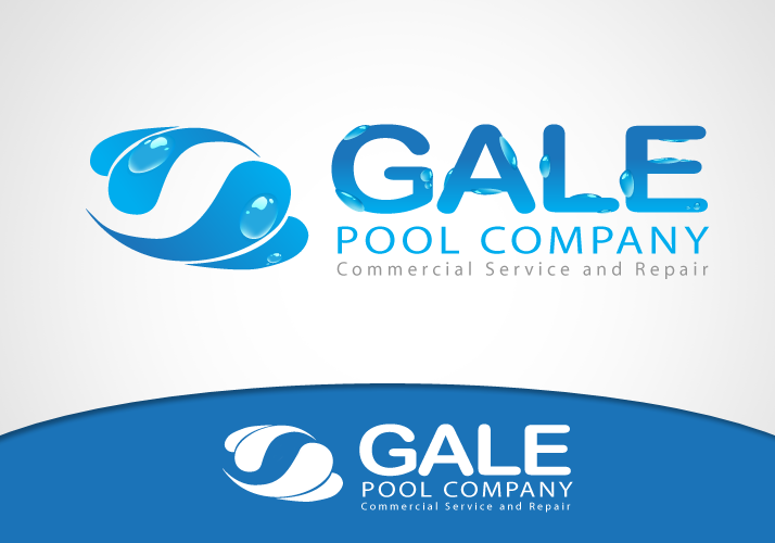 Logo Design by Jan Chua - Entry No. 46 in the Logo Design Contest Imaginative Logo Design for Gale Pool Company.