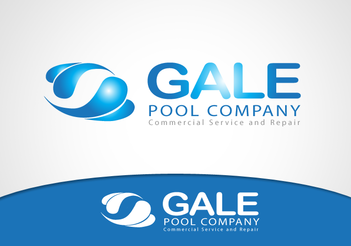 Logo Design by Jan Chua - Entry No. 47 in the Logo Design Contest Imaginative Logo Design for Gale Pool Company.