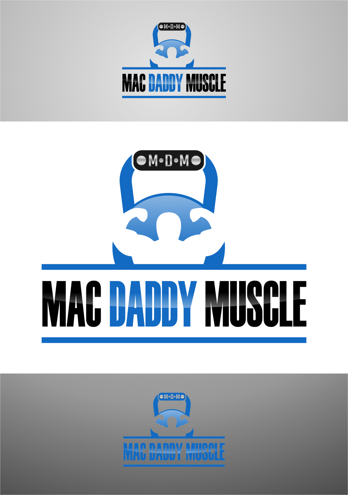 Logo Design by RasYa Muhammad Athaya - Entry No. 68 in the Logo Design Contest New Logo Design for Mac Daddy Muscle.