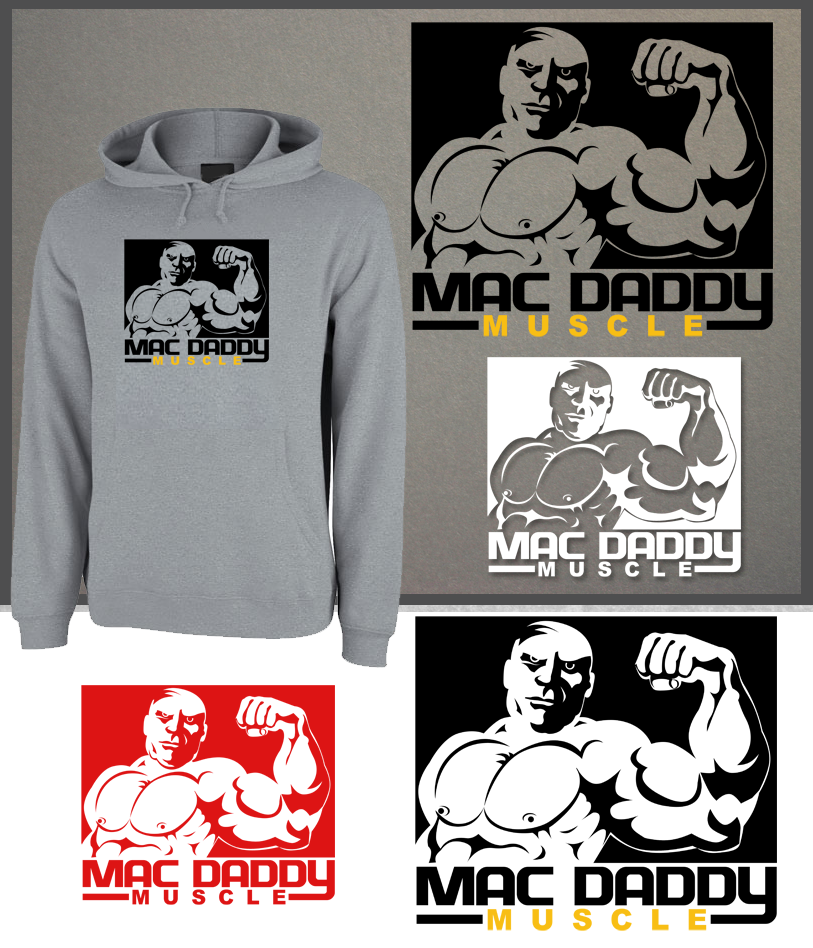 Logo Design by Robert Turla - Entry No. 71 in the Logo Design Contest New Logo Design for Mac Daddy Muscle.
