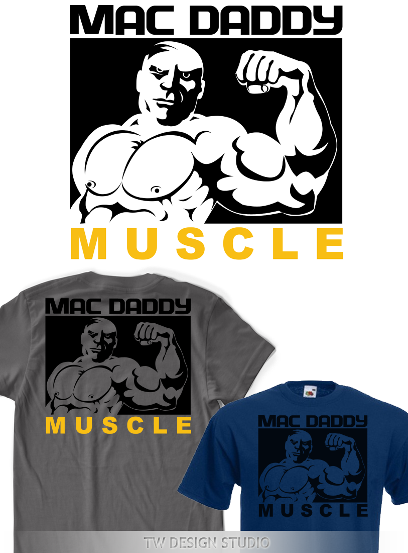 Logo Design by Robert Turla - Entry No. 73 in the Logo Design Contest New Logo Design for Mac Daddy Muscle.