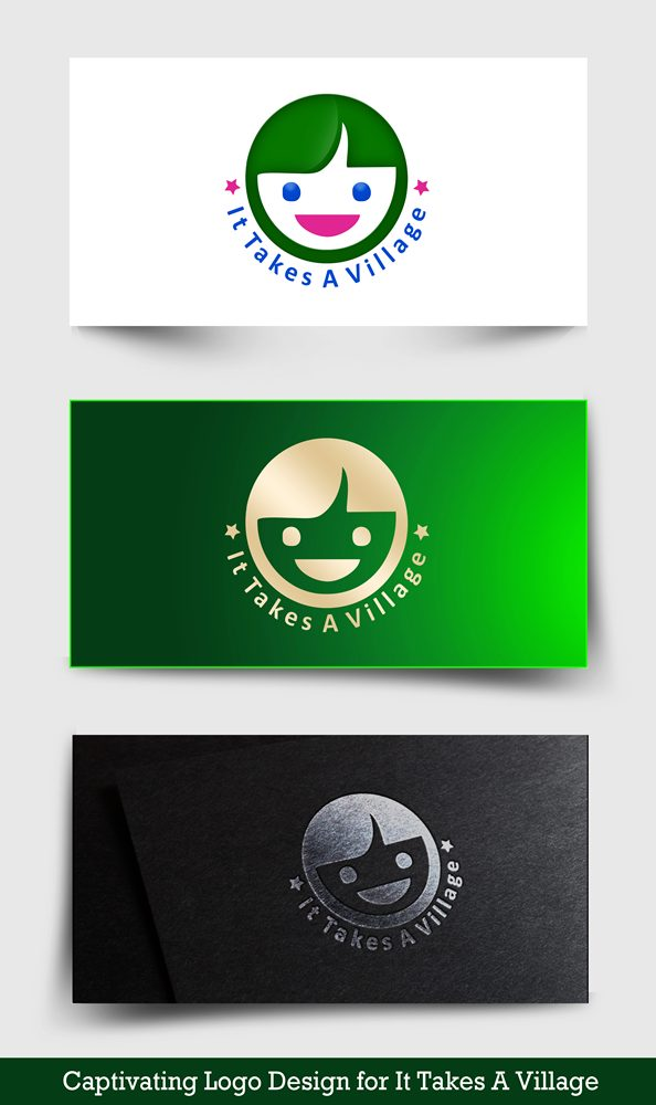 Logo Design by Respati Himawan - Entry No. 60 in the Logo Design Contest Captivating Logo Design for It Takes A Village.