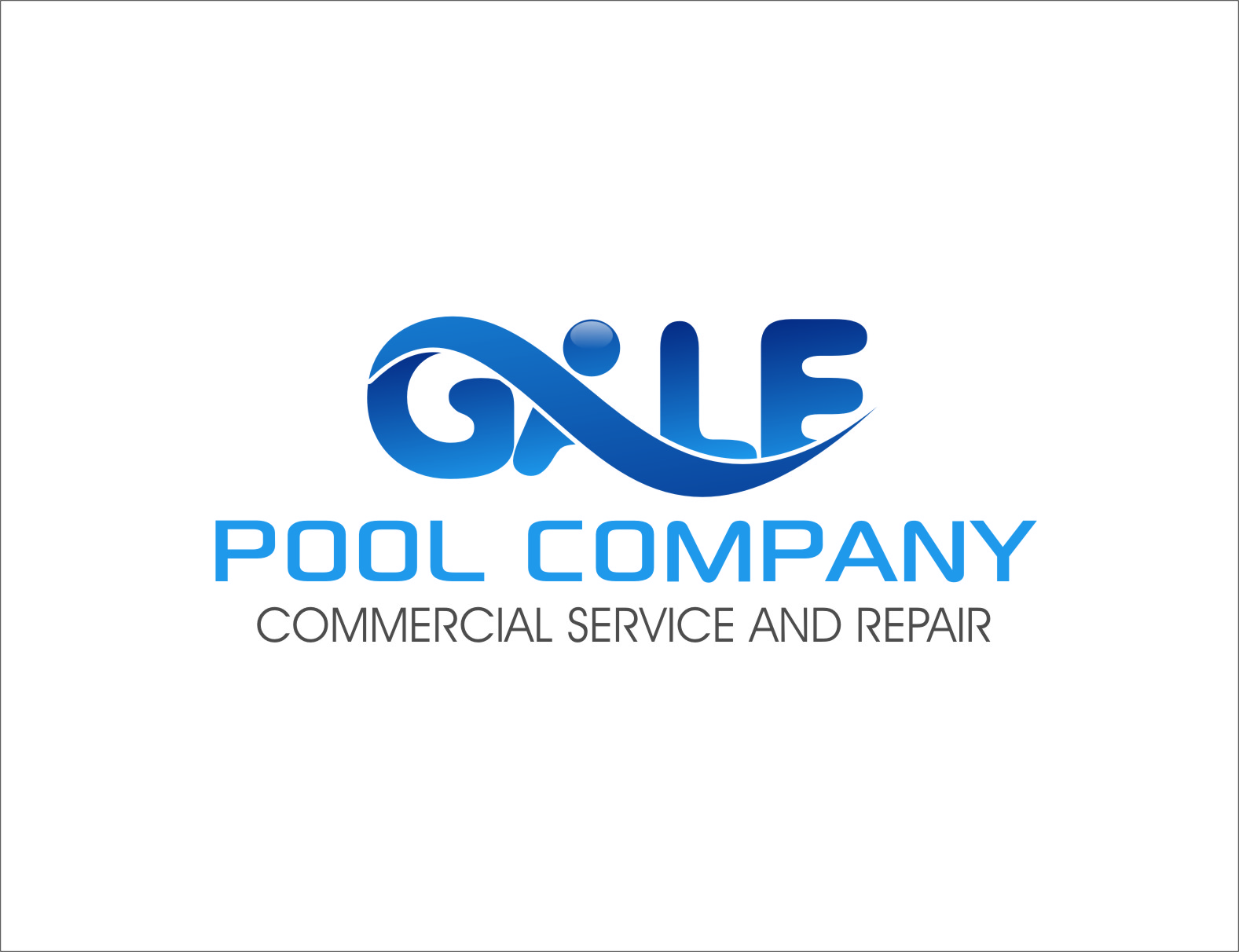 Logo Design by Ngepet_art - Entry No. 57 in the Logo Design Contest Imaginative Logo Design for Gale Pool Company.