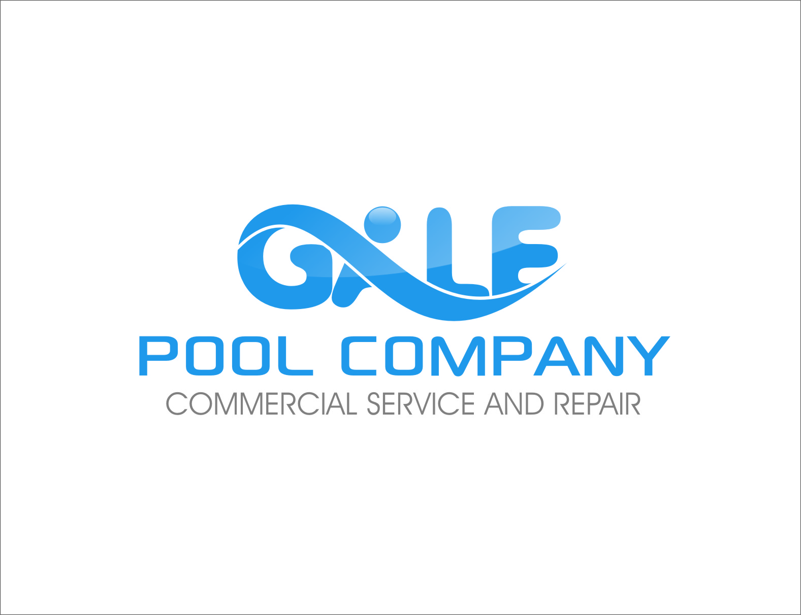 Logo Design by Ngepet_art - Entry No. 58 in the Logo Design Contest Imaginative Logo Design for Gale Pool Company.