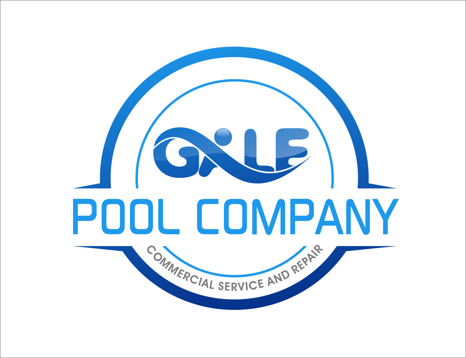 Logo Design by Ngepet_art - Entry No. 59 in the Logo Design Contest Imaginative Logo Design for Gale Pool Company.