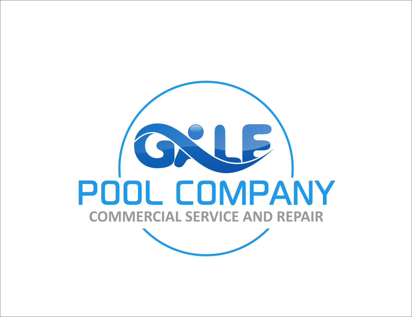 Logo Design by RasYa Muhammad Athaya - Entry No. 60 in the Logo Design Contest Imaginative Logo Design for Gale Pool Company.