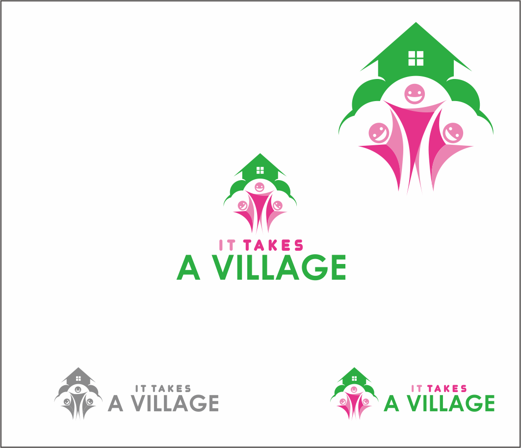 Logo Design by Armada Jamaluddin - Entry No. 67 in the Logo Design Contest Captivating Logo Design for It Takes A Village.