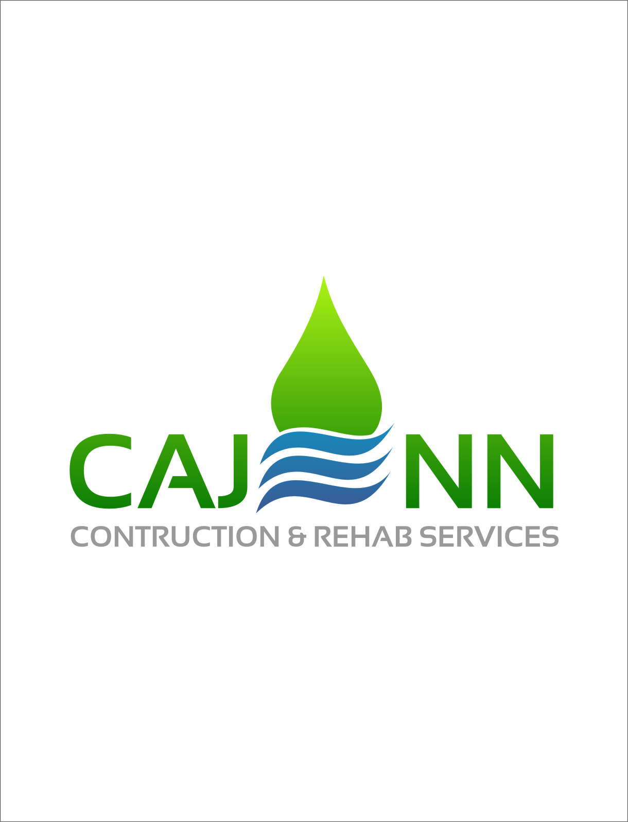 Logo Design by RasYa Muhammad Athaya - Entry No. 8 in the Logo Design Contest New Logo Design for CaJenn Construction & Rehab Services.