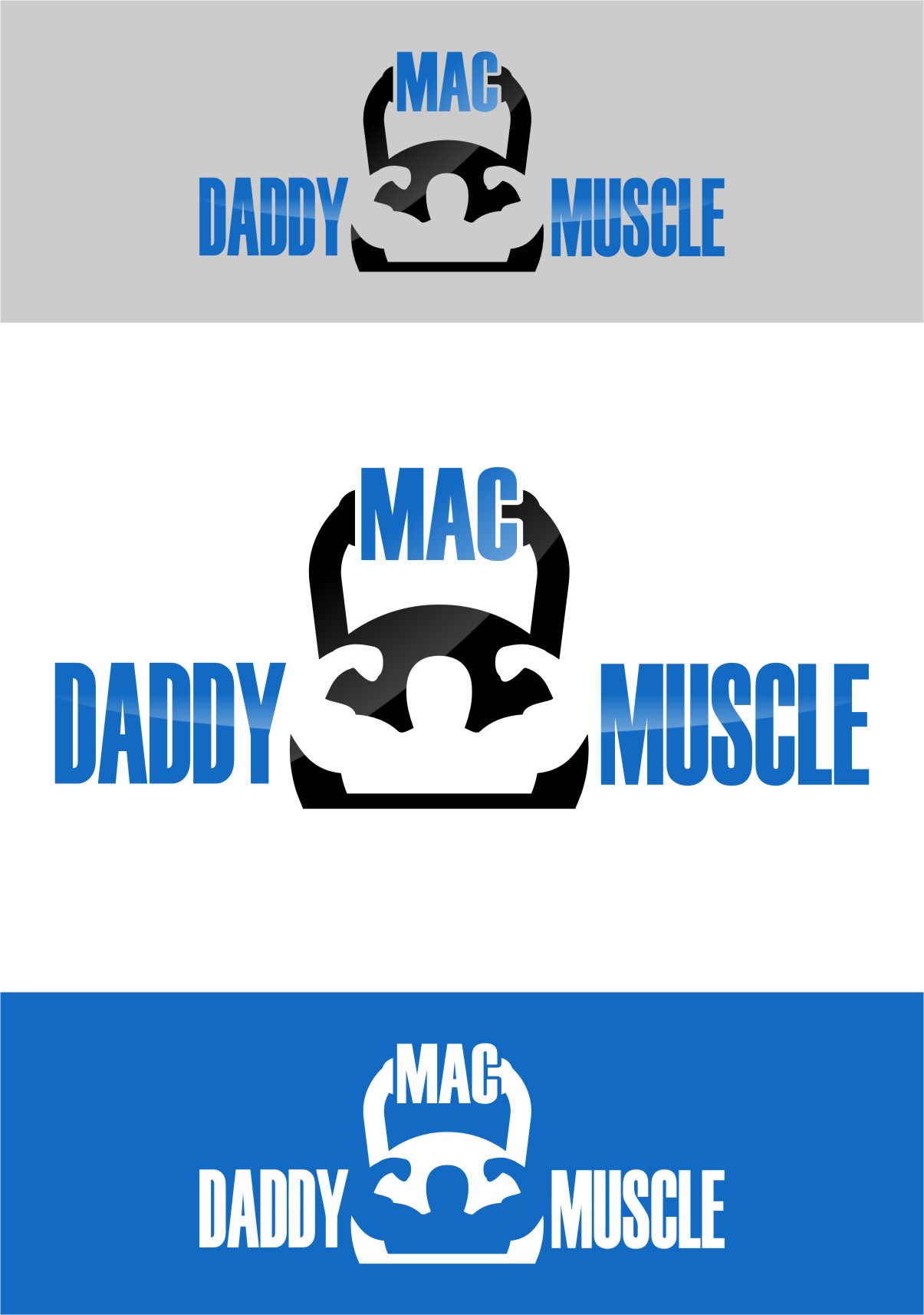 Logo Design by RasYa Muhammad Athaya - Entry No. 82 in the Logo Design Contest New Logo Design for Mac Daddy Muscle.
