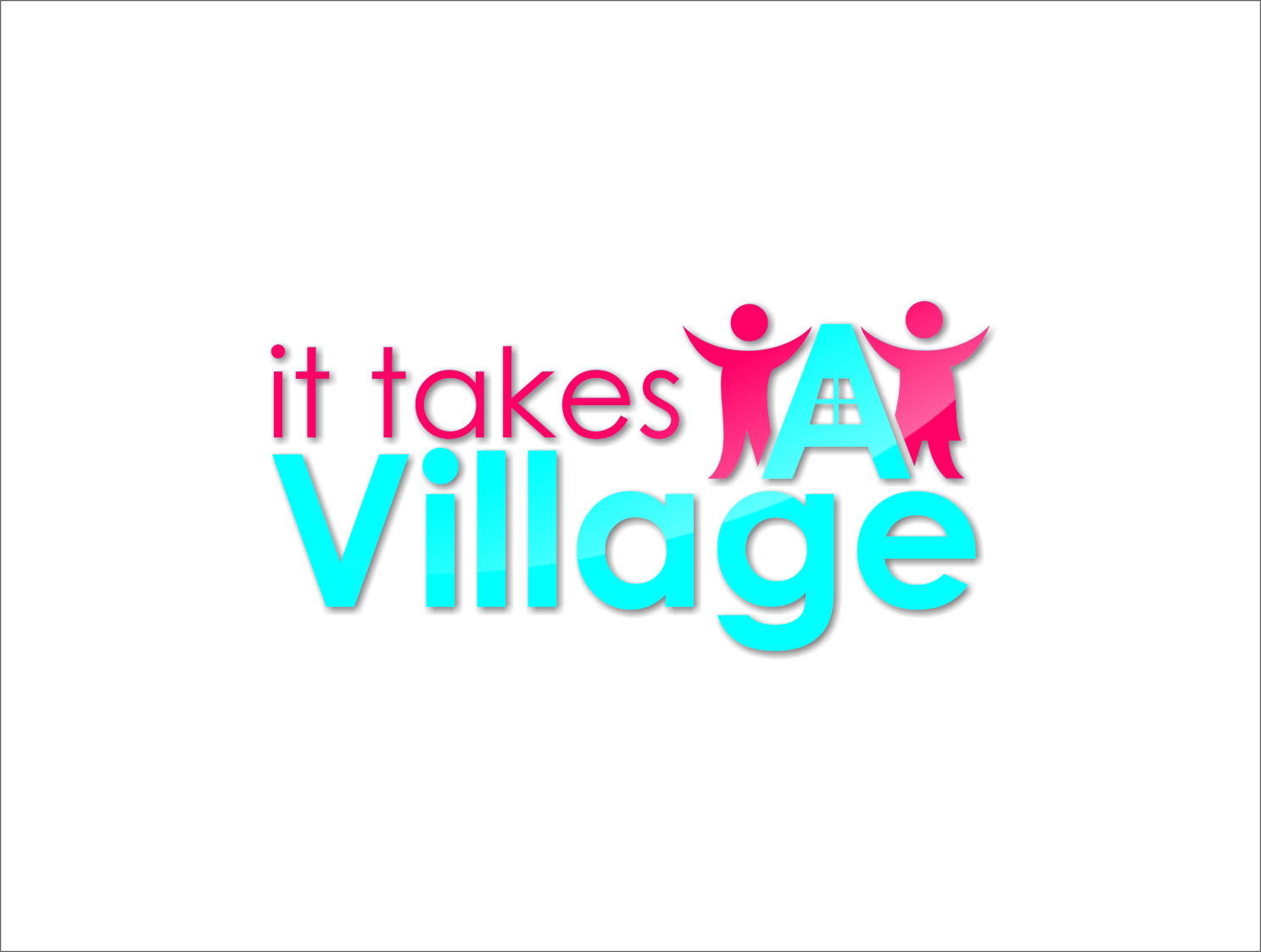 Logo Design by Ngepet_art - Entry No. 77 in the Logo Design Contest Captivating Logo Design for It Takes A Village.