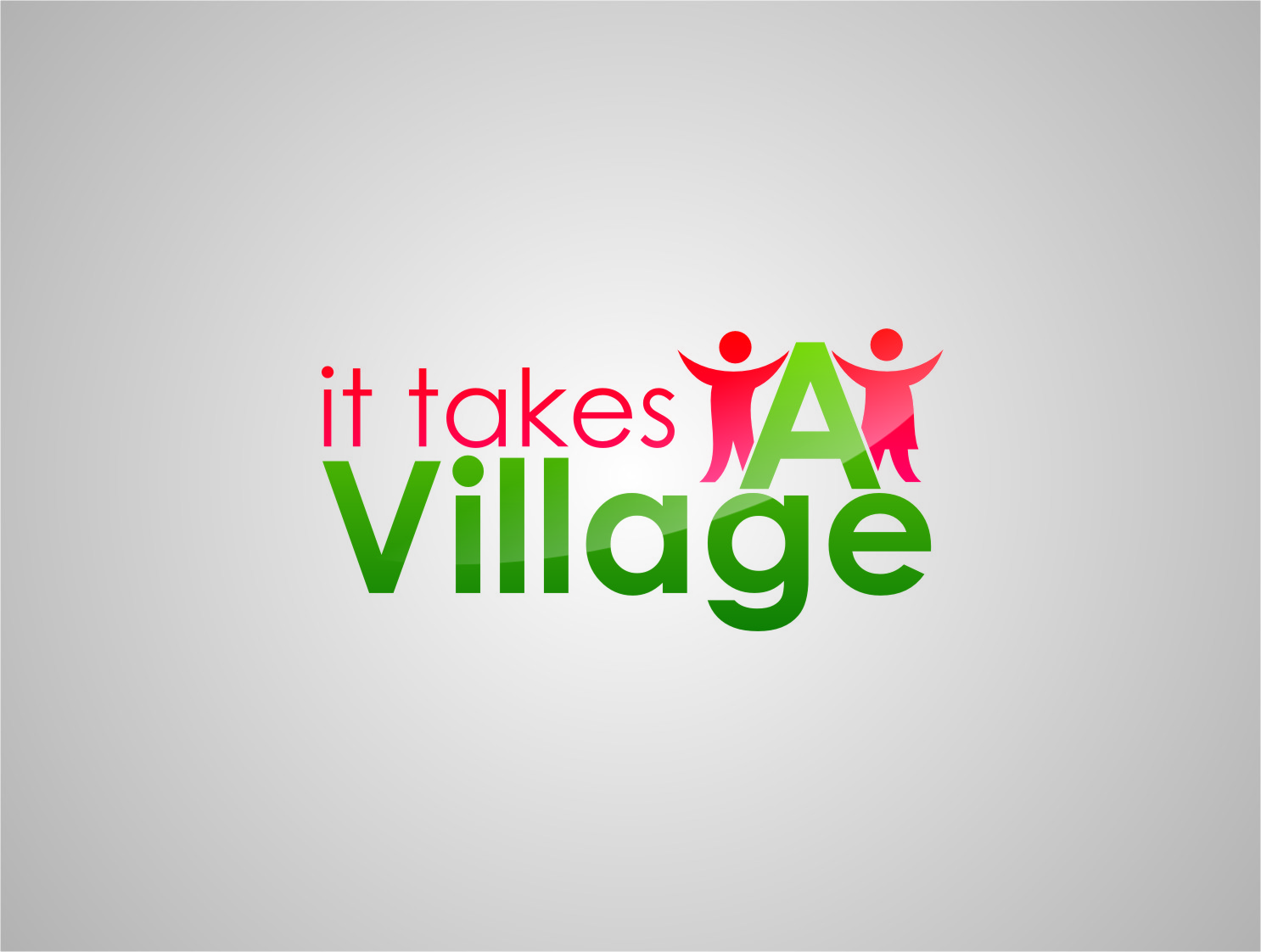 Logo Design by RasYa Muhammad Athaya - Entry No. 79 in the Logo Design Contest Captivating Logo Design for It Takes A Village.