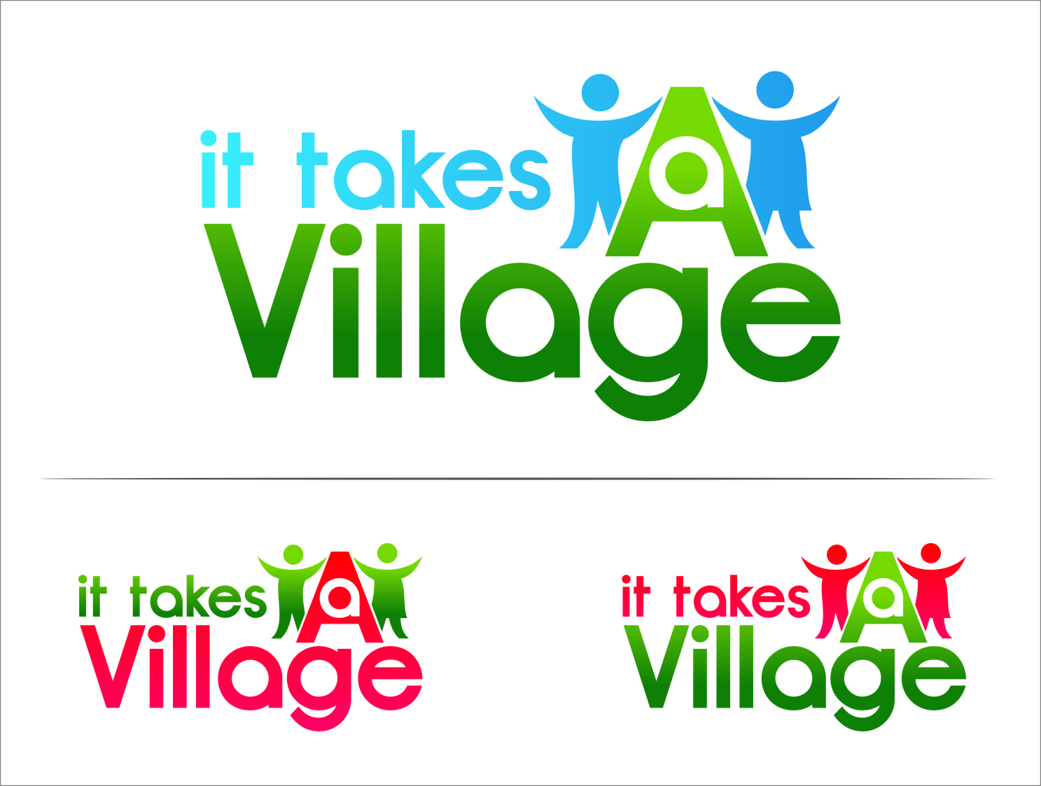 Logo Design by Ngepet_art - Entry No. 80 in the Logo Design Contest Captivating Logo Design for It Takes A Village.