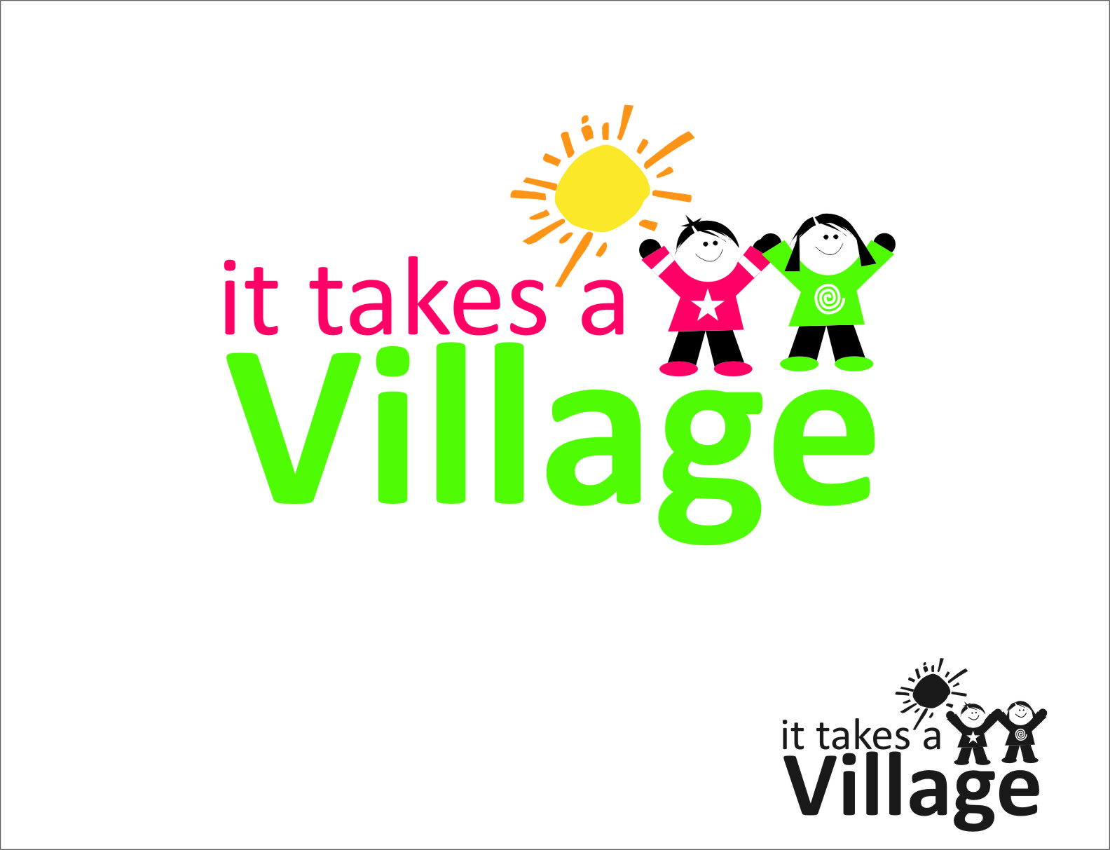 Logo Design by Ngepet_art - Entry No. 81 in the Logo Design Contest Captivating Logo Design for It Takes A Village.