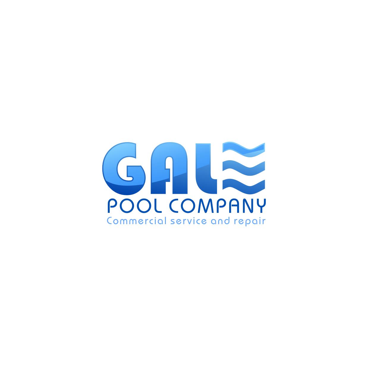 Logo Design by rifatz - Entry No. 82 in the Logo Design Contest Imaginative Logo Design for Gale Pool Company.