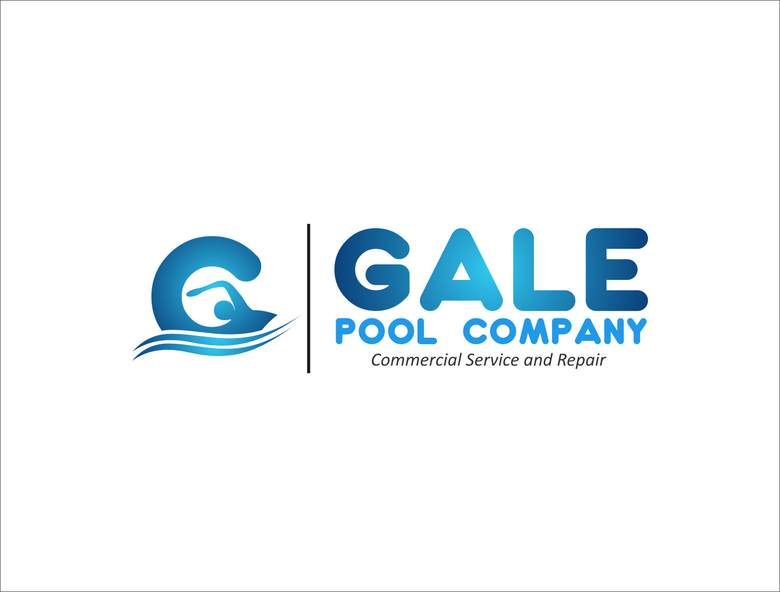 Logo Design by Ngepet_art - Entry No. 86 in the Logo Design Contest Imaginative Logo Design for Gale Pool Company.