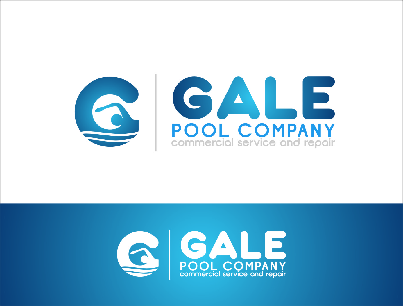 Logo Design by RoSyid Rono-Rene On Java - Entry No. 88 in the Logo Design Contest Imaginative Logo Design for Gale Pool Company.