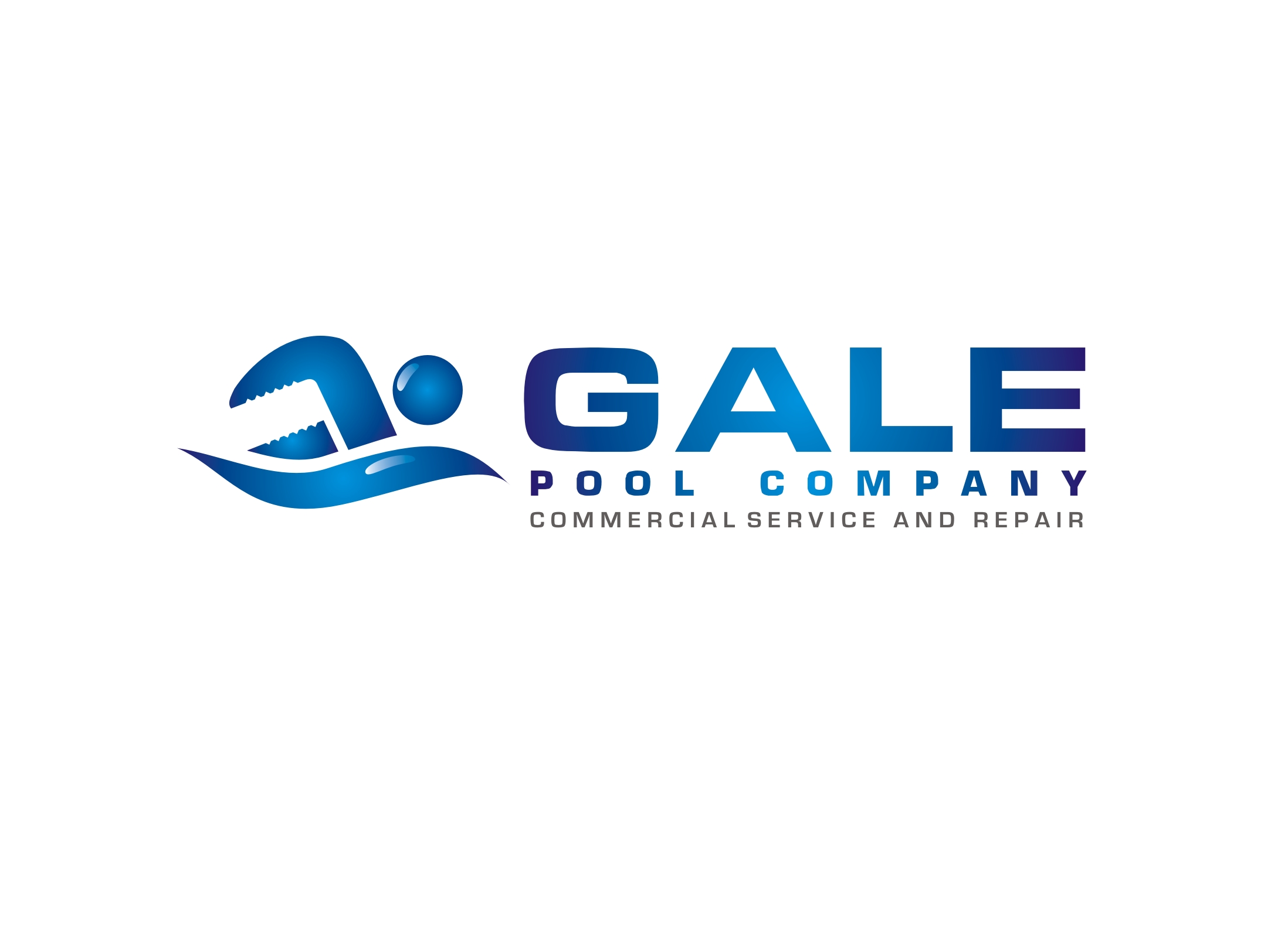 Logo Design by Zdravko Krulj - Entry No. 89 in the Logo Design Contest Imaginative Logo Design for Gale Pool Company.