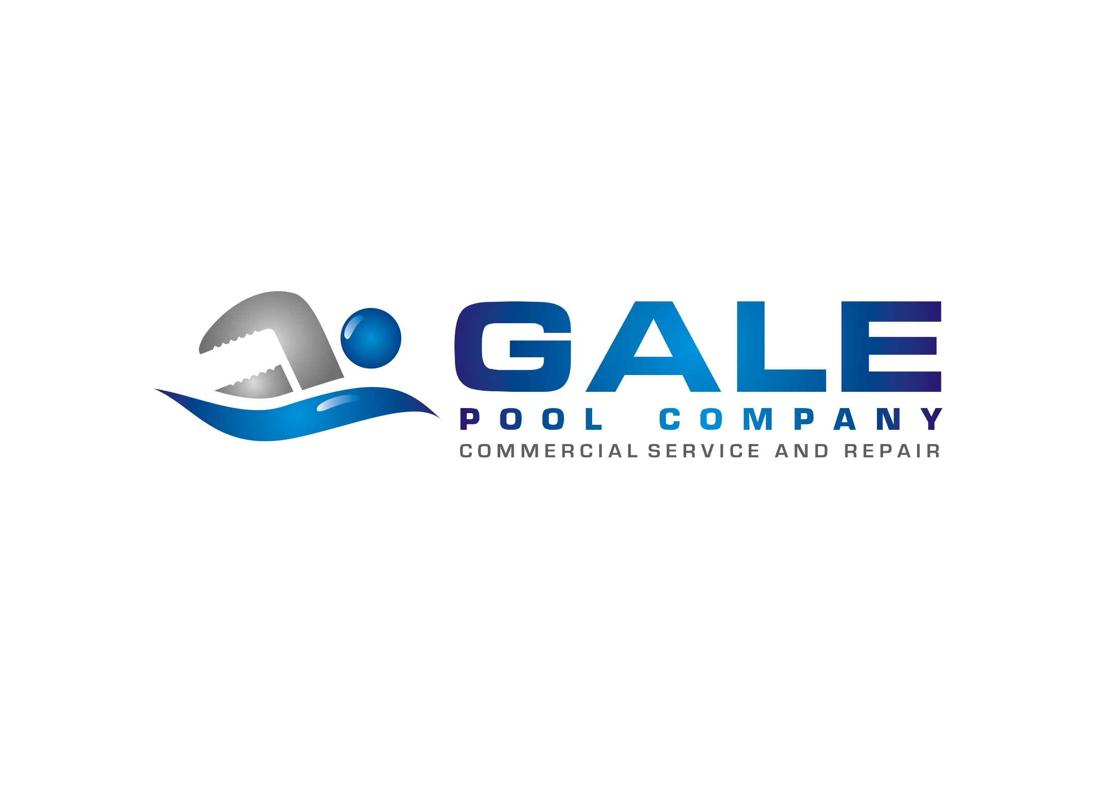 Logo Design by Zdravko Krulj - Entry No. 90 in the Logo Design Contest Imaginative Logo Design for Gale Pool Company.
