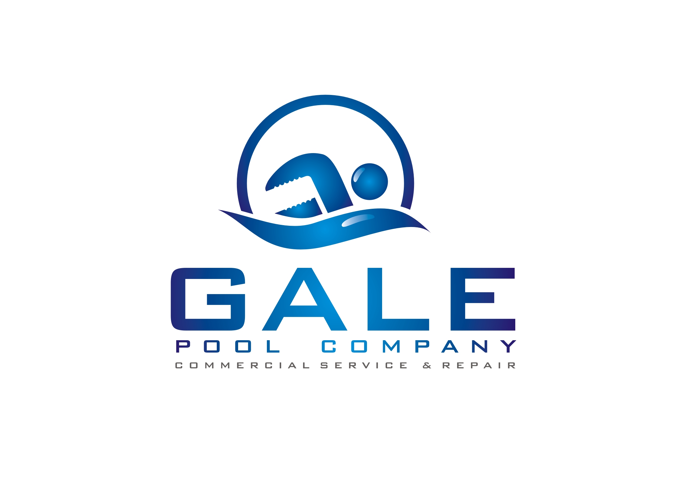 Logo Design by Zdravko Krulj - Entry No. 91 in the Logo Design Contest Imaginative Logo Design for Gale Pool Company.