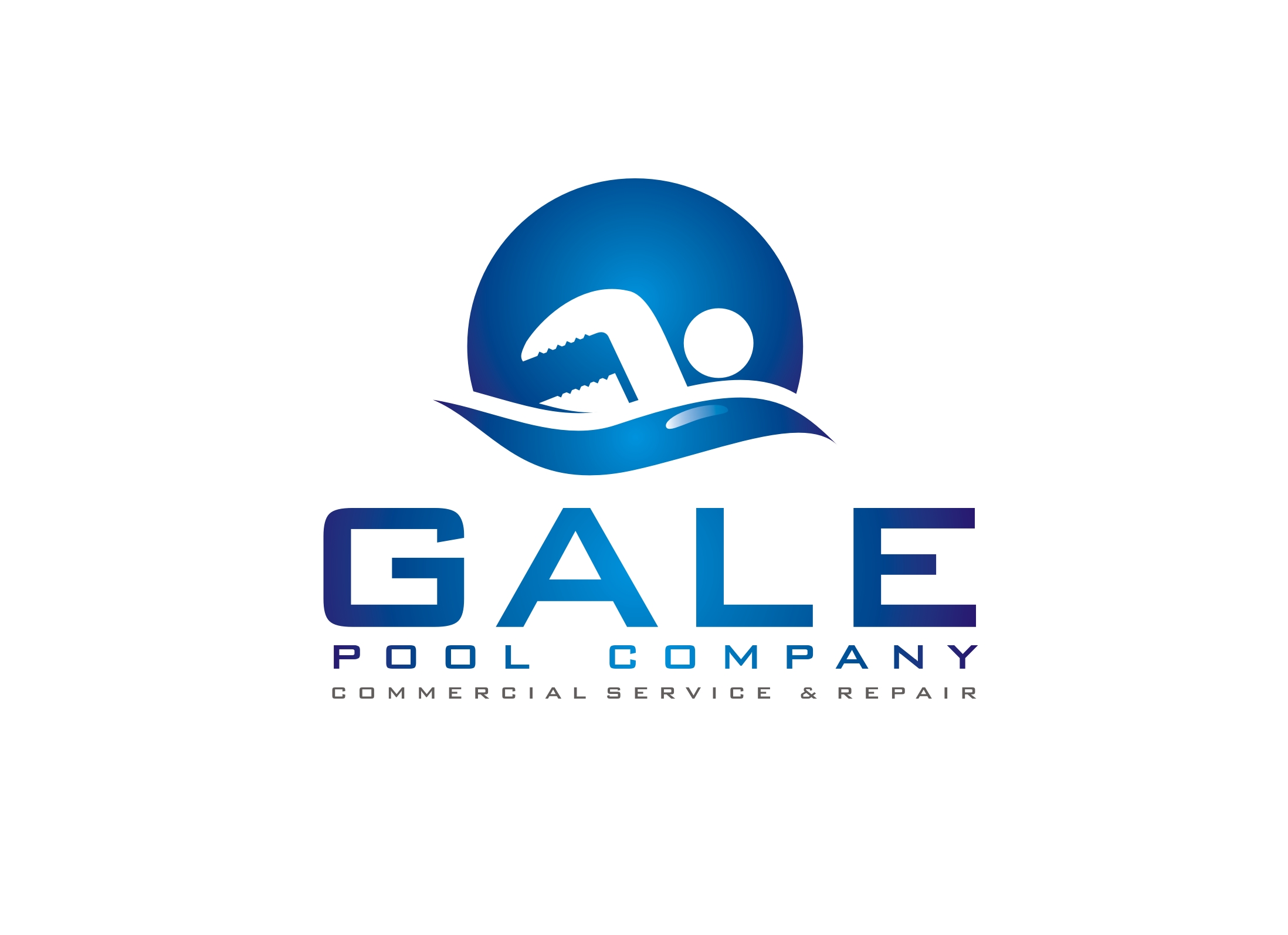 Logo Design by Zdravko Krulj - Entry No. 98 in the Logo Design Contest Imaginative Logo Design for Gale Pool Company.