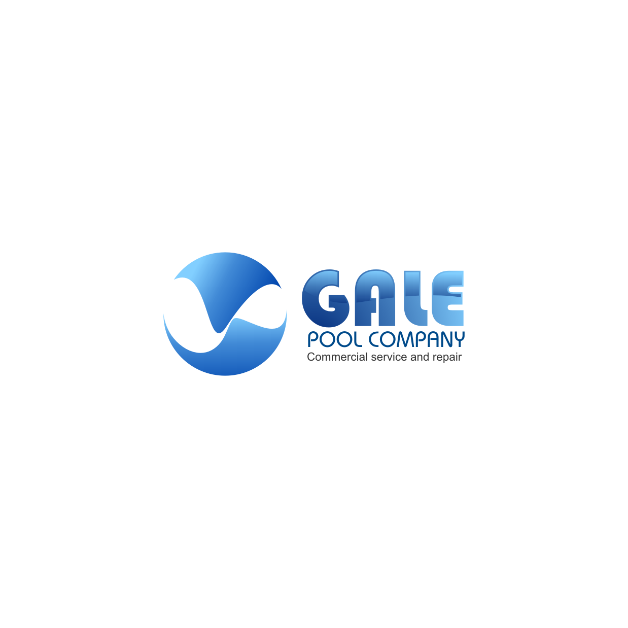 Logo Design by rifatz - Entry No. 103 in the Logo Design Contest Imaginative Logo Design for Gale Pool Company.