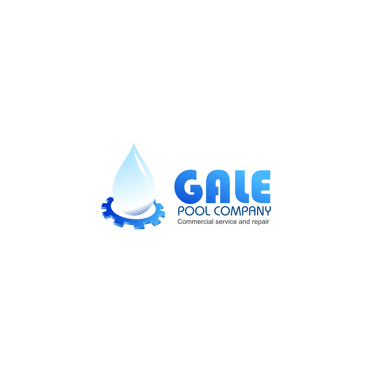 Logo Design by rifatz - Entry No. 104 in the Logo Design Contest Imaginative Logo Design for Gale Pool Company.