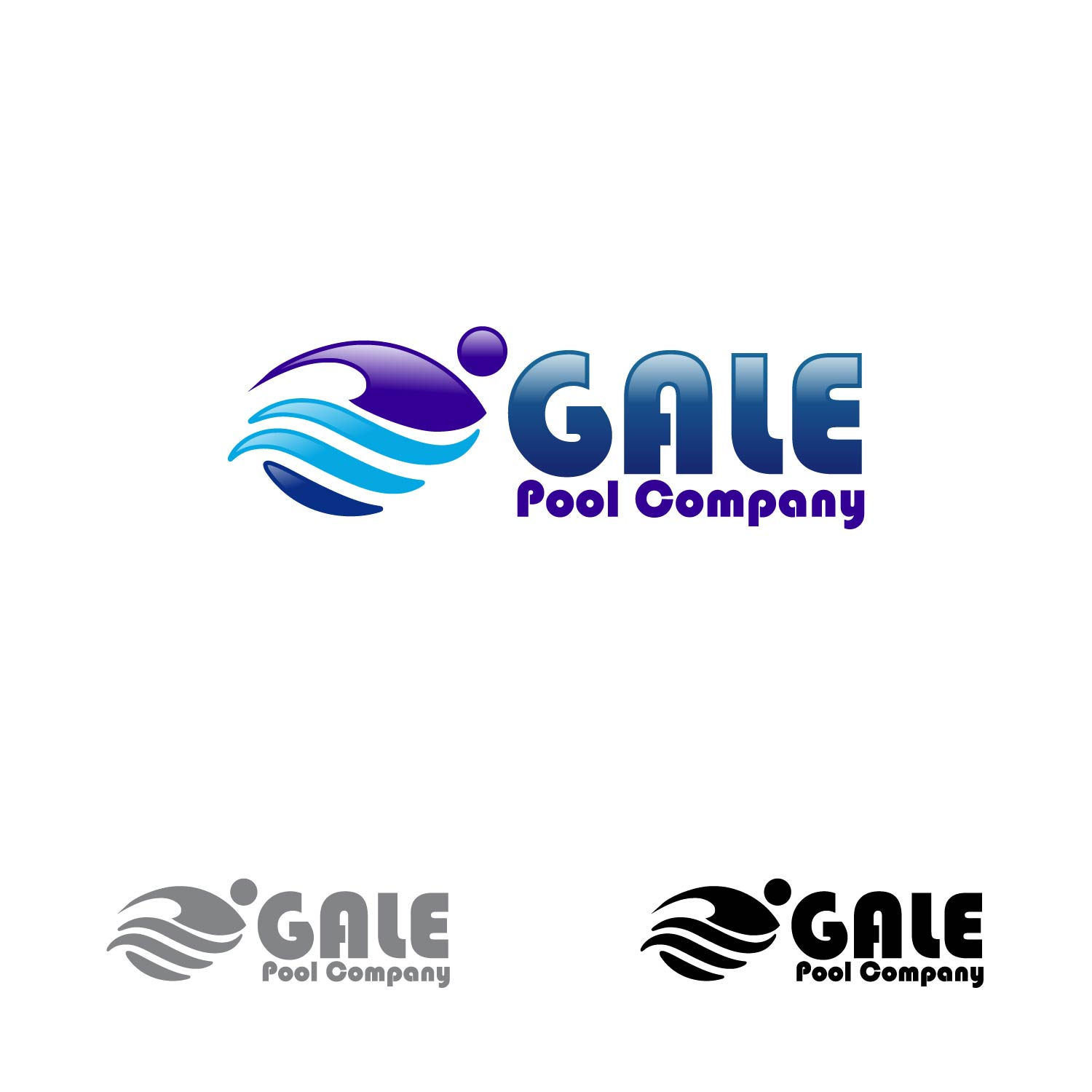 Logo Design by lagalag - Entry No. 106 in the Logo Design Contest Imaginative Logo Design for Gale Pool Company.