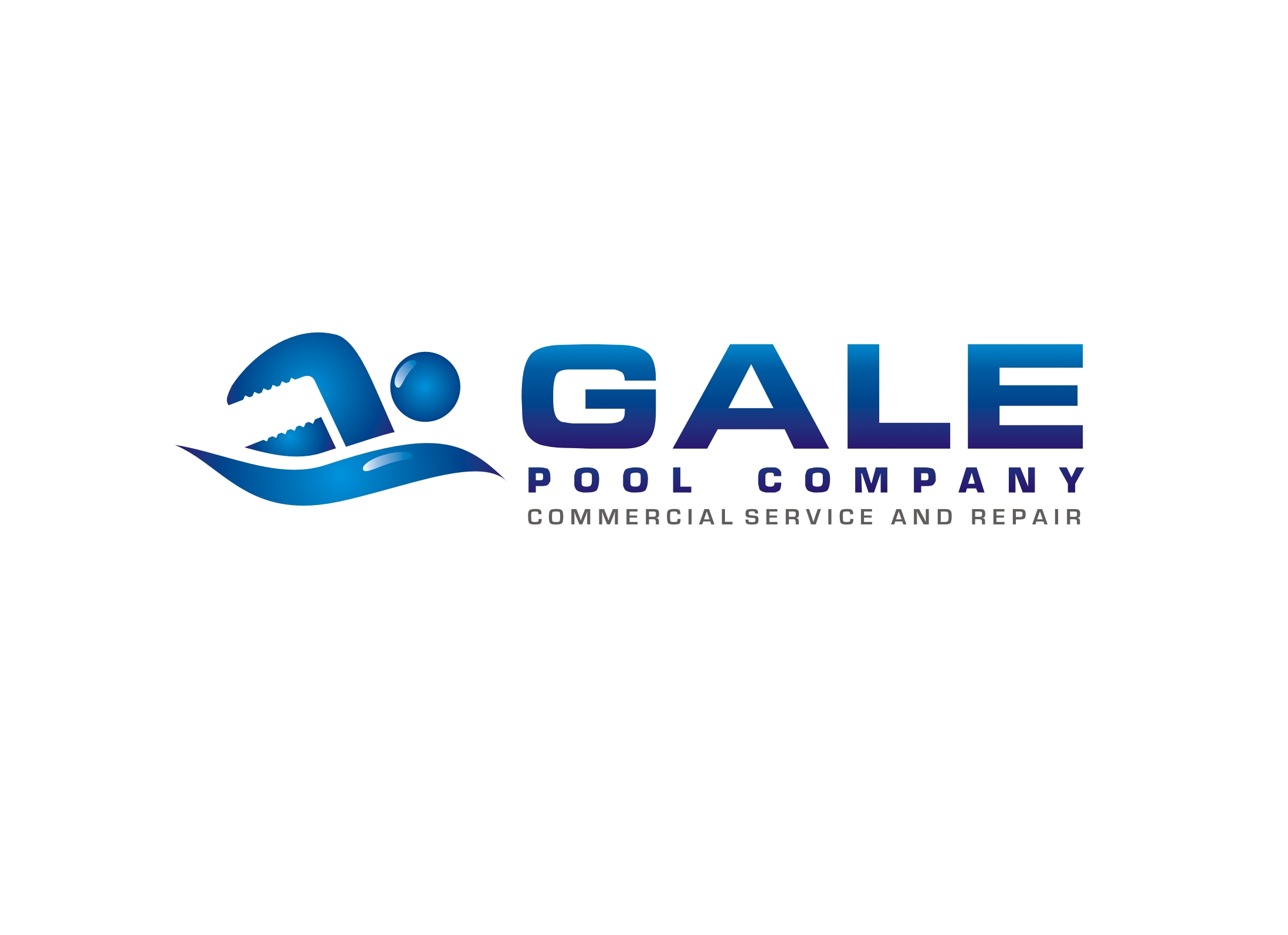 Logo Design by Zdravko Krulj - Entry No. 108 in the Logo Design Contest Imaginative Logo Design for Gale Pool Company.