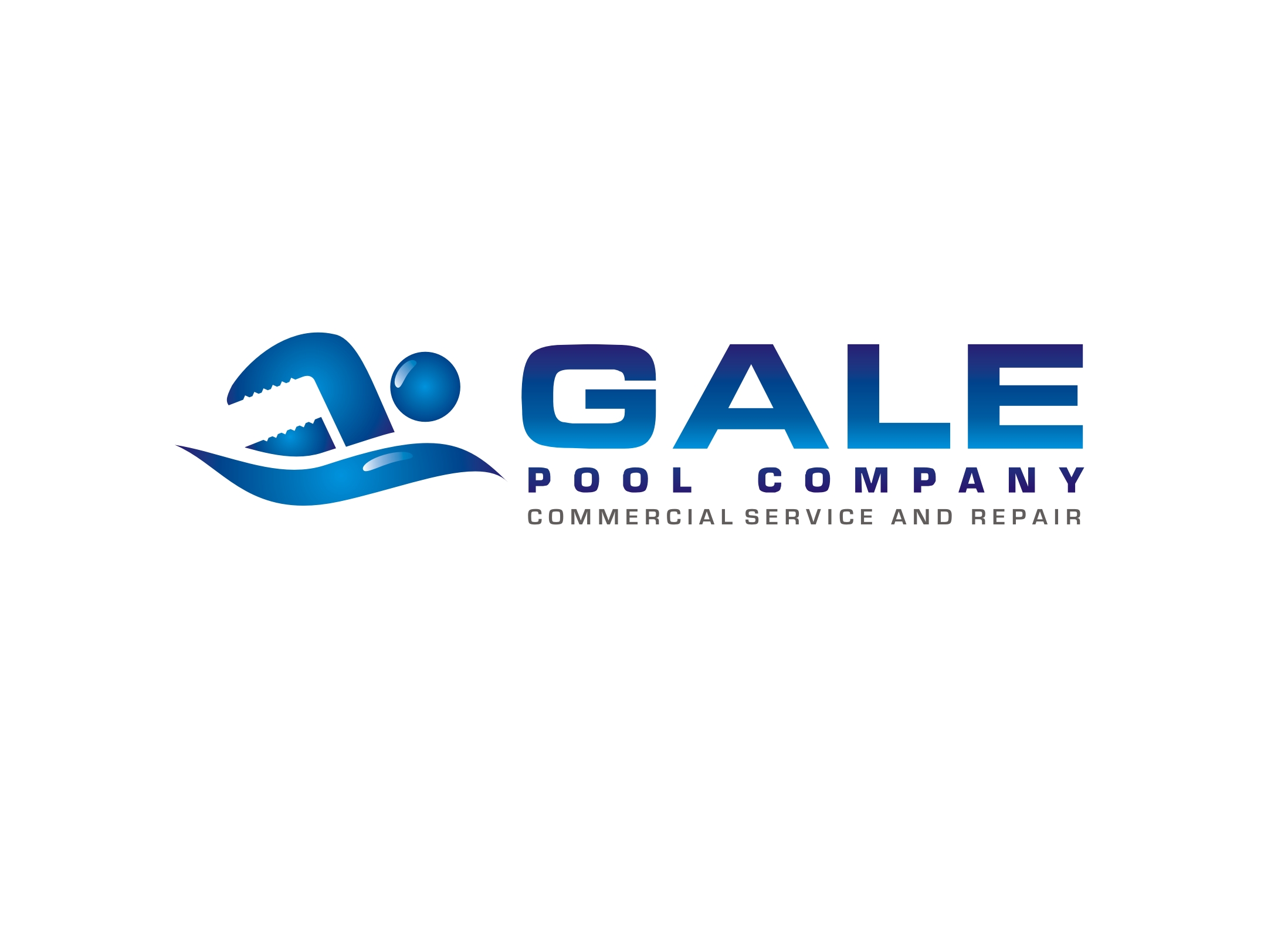 Logo Design by Zdravko Krulj - Entry No. 110 in the Logo Design Contest Imaginative Logo Design for Gale Pool Company.