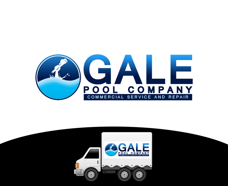 Logo Design by Juan_Kata - Entry No. 115 in the Logo Design Contest Imaginative Logo Design for Gale Pool Company.
