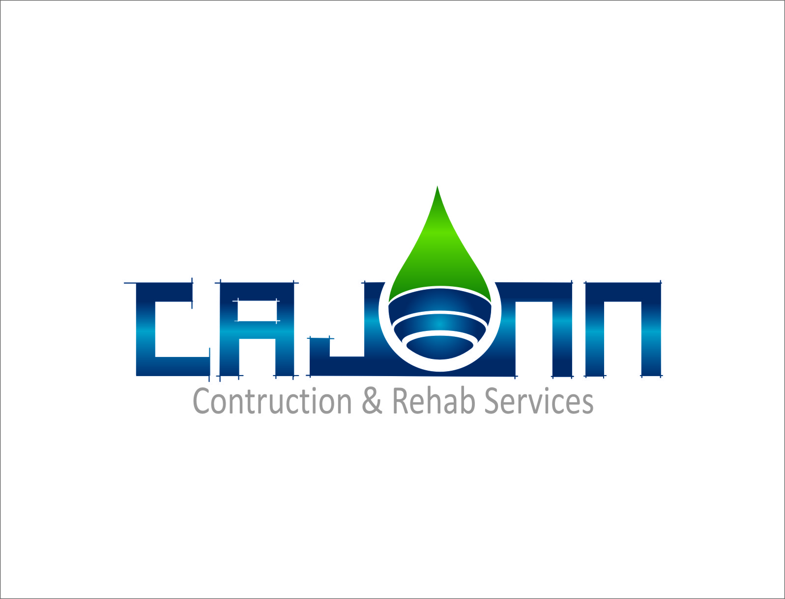 Logo Design by RasYa Muhammad Athaya - Entry No. 26 in the Logo Design Contest New Logo Design for CaJenn Construction & Rehab Services.