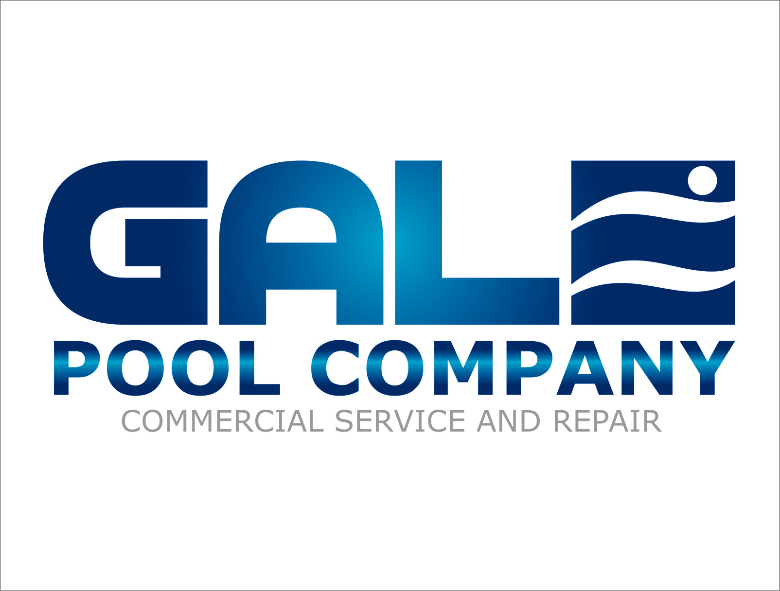 Logo Design by Ngepet_art - Entry No. 116 in the Logo Design Contest Imaginative Logo Design for Gale Pool Company.