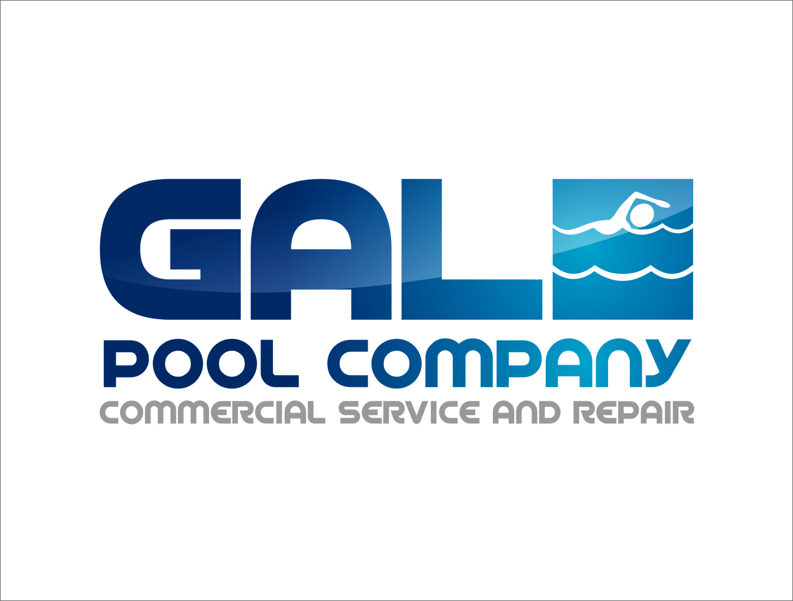 Logo Design by RasYa Muhammad Athaya - Entry No. 117 in the Logo Design Contest Imaginative Logo Design for Gale Pool Company.