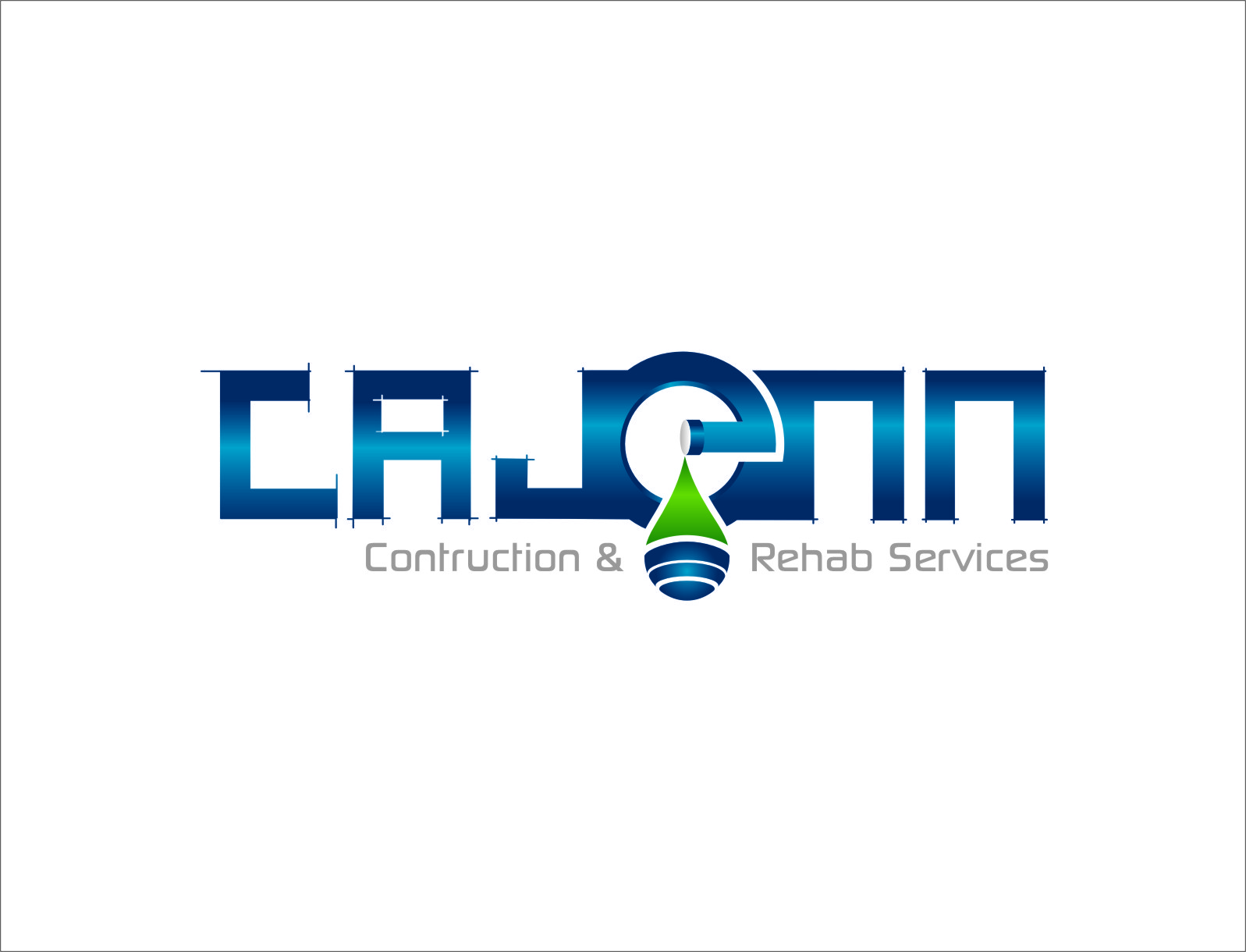 Logo Design by RasYa Muhammad Athaya - Entry No. 27 in the Logo Design Contest New Logo Design for CaJenn Construction & Rehab Services.