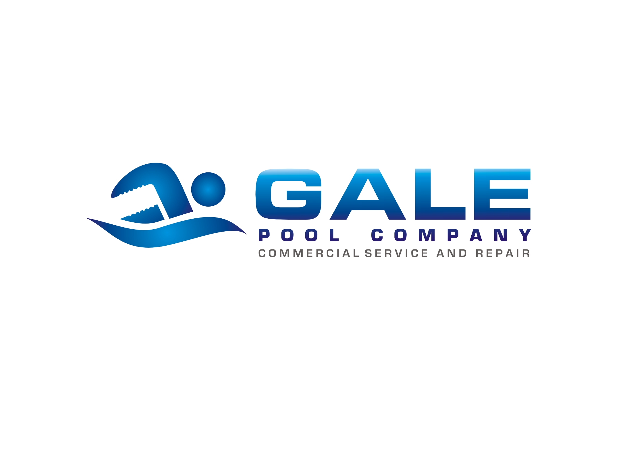 Logo Design by Zdravko Krulj - Entry No. 119 in the Logo Design Contest Imaginative Logo Design for Gale Pool Company.