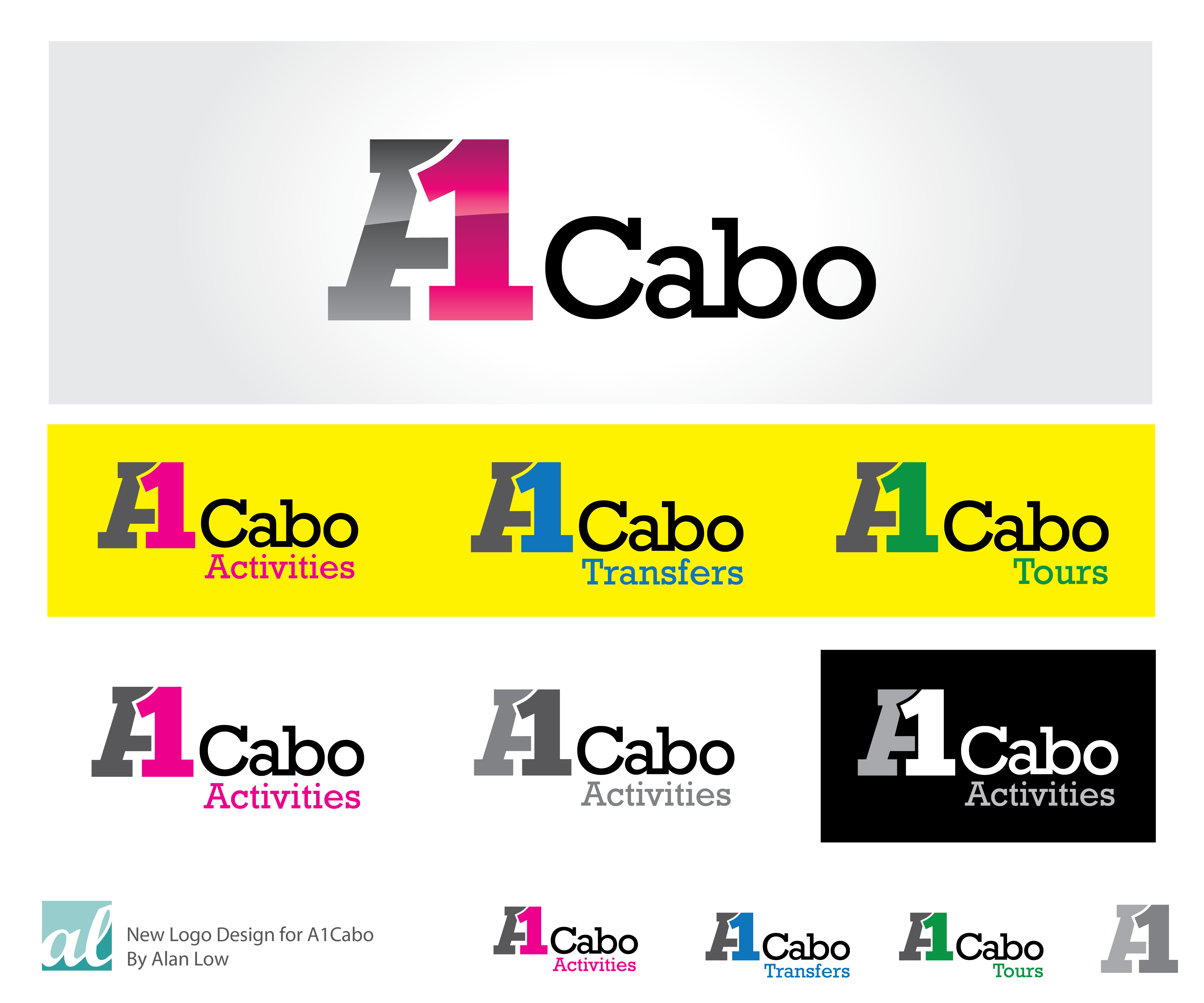 Logo Design by Alan Low - Entry No. 112 in the Logo Design Contest Inspiring Logo Design for A1Cabo.com.