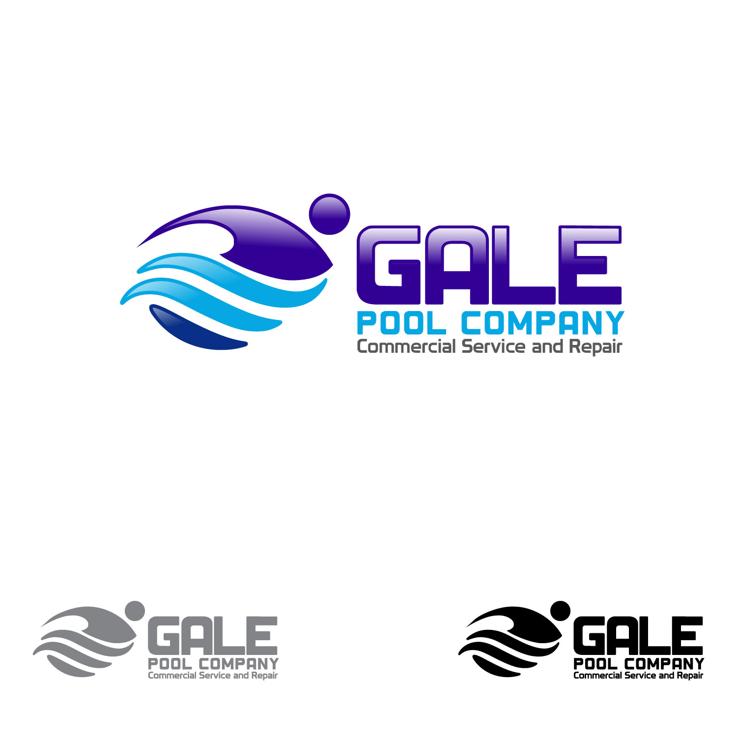 Logo Design by lagalag - Entry No. 122 in the Logo Design Contest Imaginative Logo Design for Gale Pool Company.