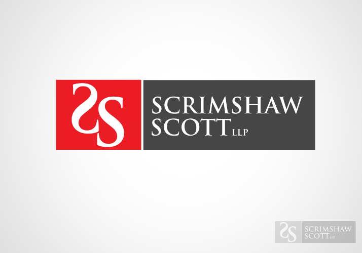 Logo Design by Jan Chua - Entry No. 1 in the Logo Design Contest Striking Logo Design for law firm SCRIMSHAW  SCOTT  LLP.
