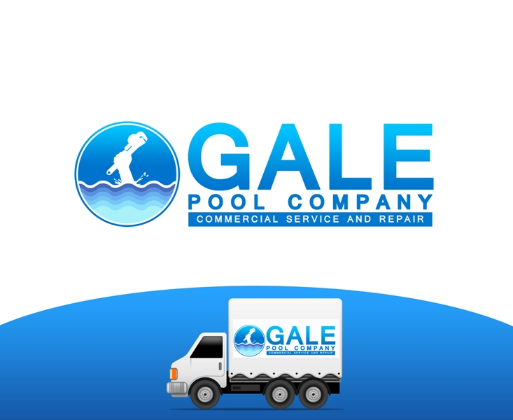 Logo Design by Juan_Kata - Entry No. 138 in the Logo Design Contest Imaginative Logo Design for Gale Pool Company.
